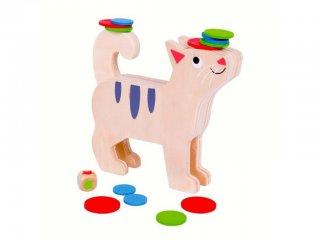 Egyensúlyozós társasjáték, Cicás (Bigjigs, ügyességi játék, 3-6 év)