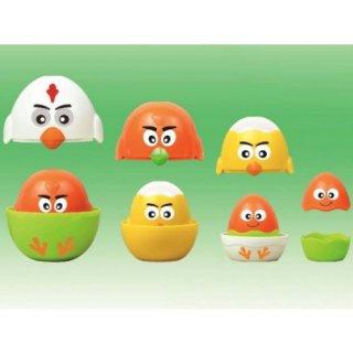 Egymásba rakható tojások, bébi építőjáték (6 hó-2 év)