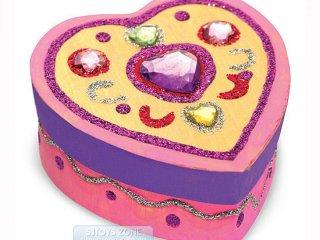 Ékszerdoboz készítő, szívecskés (melissa&doug, Heart Box, kreatív fajáték, 5-8 év)