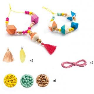 Ékszerkészítő szett Fagyöngyök és kockák, Djeco kreatív készlet - 9800 (8-14 év)