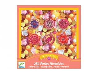 Ékszerkészítő szett gyöngyökkel Flower, Djeco kreatív készlet - 9854 (6-10 év)