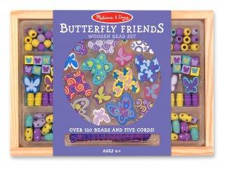 Ékszerkészítő szett: Pillangós (Melissa&doug, kreatív gyöngyfűző játék, 5-8 év)