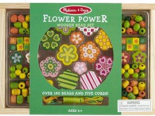 Ékszerkészítő szett: Virágos (melissa&doug, Flower Power Bead Set, 150 db, kreatív játék, 5-8 év)
