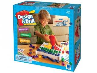 Elektromos és kézi csavarhúzós logikai játék és építőjáték (LR, kézügyesség fejlesztő logikai játék, 3-7 év)