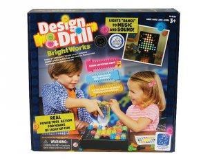 Elektromos és kézi csavarhúzós logikai játék és építőjáték, VILÁGÍTÓ változat! (LR, kézügyesség fejlesztő logikai játék, 3-7 év)