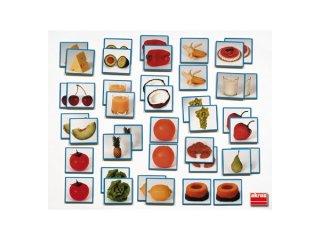 Élelmiszeres memóriajáték (20pár) (Akros, memóriafejlesztő párosító játék, 4-99 év)