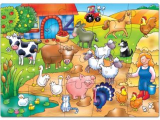 Élet a farmon puzzle (Orchard, who's on the farm?, 20 db-os puzzle, 3-6 év)