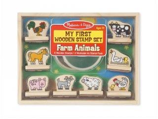 Első nyomdám, Farm állatai kreatív készlet fából (MD, 2390)