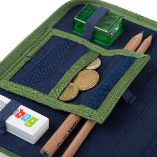 Emeletes tolltartó, Ergobag irodaszer, kék kockás (6-9 év, töltetlen)