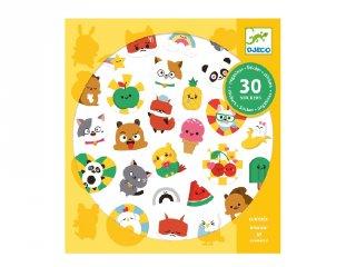 Emoji, Djeco 30 db-os matrica készlet - 9266