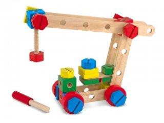 Építő és szerelő készlet fából Melissa & Doug kreatív építőjáték (5151, 2-5 év)