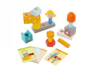 Építőjáték, Építkezés (Haba, fa logikai építőjáték, 2-6 év)