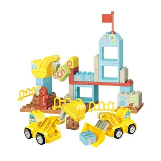 Építs számokkal kicsiknek, Lego Duplo kompatibilis építőjáték készlet (QMAN, 5003, 1,5-5 év)