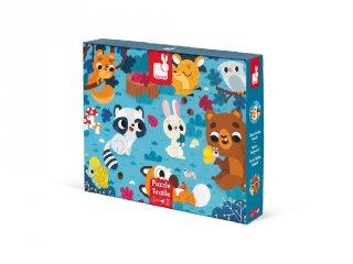 Erdei állatok, Janod 20-db-os XXL tapintós puzzle (2685, 2-4 év)