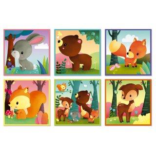 Erdei állatos mesekocka, 9 db-os Janod készségfejlesztő játék (J02731, 2-4 év)