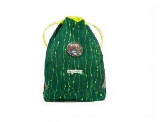 Ergobag Cubo tornazsák, Zöld vadállatos fluoreszkáló (6-12 év)