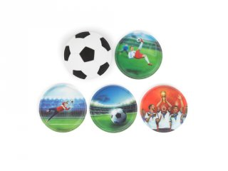 Ergobag Matrica készlet 5 db-os, Futball 3D (ERG-KLE-001-060, 3-12 év)