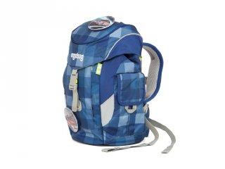 Ergobag Mini, Ergonómikus ovis hátizsák, Kék kockás tűzoltóautós (ERG-MIP-002-920, gyerek hátizsák, 3-6 év)
