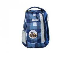 Ergonómikus kishátizsák, Kék kockás munkagépes (Ergobag, gyerek hátizsák és sporttáska, 3-12 év)