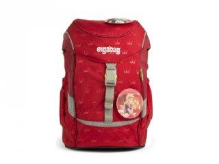 Ergonómikus ovis hátizsák, Piros koronás (Ergobag Mini, gyerek hátizsák, 3-6 év)