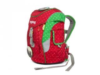 Ergonómikus ovis hátizsák, Piros pöttyös lovas (Ergobag Mini, gyerek hátizsák, 3-6 év)