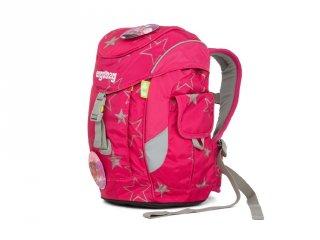 Ergonómikus ovis hátizsák, Rózsaszín csillagos (Ergobag Mini, gyerek hátizsák, 3-6 év)