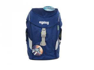 Ergonómikus ovis hátizsák, Sötétkék űrhajós (Ergobag Mini, gyerek hátizsák, 3-6 év)