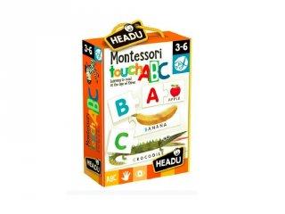 Érintős montessori puzzle, ABC, angol nyelvtanulást segítő játék (HED, 3-6 év)