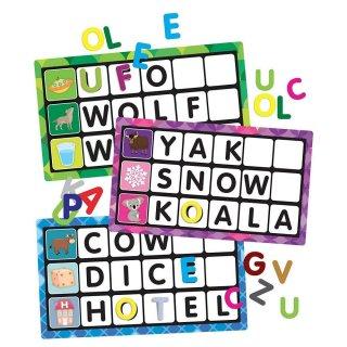Érintős montessori puzzle, Betűk és szavak, angol nyelvtanulást segítő játék (HED, 3-6 év)