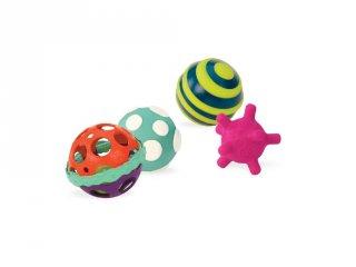 Érzékek labdái (B.Toys, 4 db bébijáték, 0-4 év)