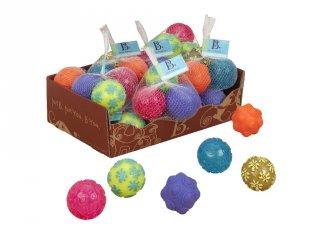 Érzékek labdái, Mini Oddballs, 3 db (B.Toys, tapintást fejlesztő játék, 6 hó-2 év