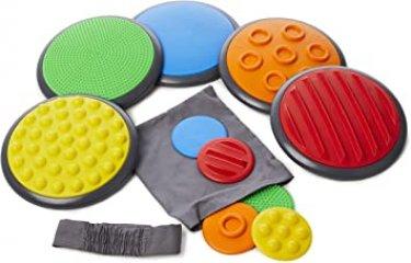 Érzékelő korongok, mozgásfejlesztő játék (Gonge 2117, tapintás, memória, mozgás, 3-99 év)