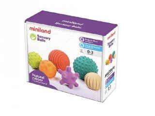 Érzékelő labdák, Miniland készségfejlesztő bébijáték (97314, 0-3 év)