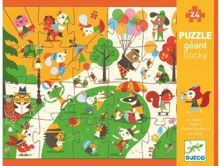 Érzékelős óriás puzzle, A parkban (Djeco, 7013, 24 db-os kirakó, 3-5 év)