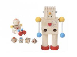 Érzelem robot, fa készségfejlesztő építőjáték (5183, 1-4 év)