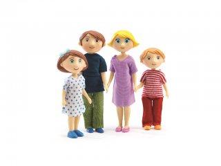 Európai család 1. (Djeco, 7811, babaház lakók, 4 fő, 3-10 év)