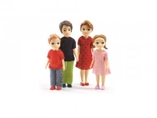 Európai család 2. (Djeco, 7810, babaház lakók, 4 fő, 3-10 év)