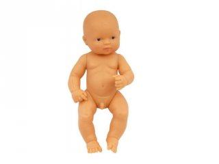 Európai fiú baba haj nélkül, 40 cm (miniland, European baby boy, babajáték, 3-8 év)