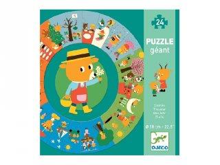 Évszakok Djeco nagyméretű 24 db-os történet puzzle - 7016 (3-6 év)