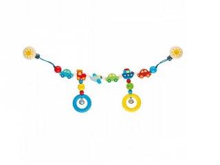 Fa autós lánc hordozóra vagy babakocsira (Goki, 736000, babajáték, 0-2 év)