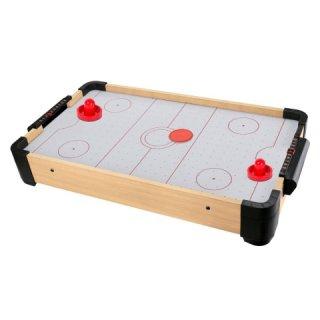 Fa elektromos asztali léghoki, ügyességi játék (61,5x41x64cm)
