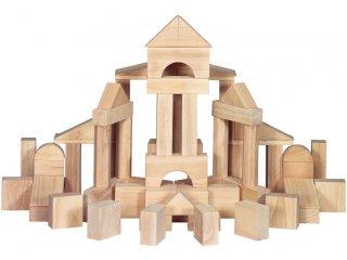 Fa építőkocka készlet (10503, Melissa & Doug, Wooden Blocks 60, 60 db extra nagy kocka kemény fából, 2 év-5 év)