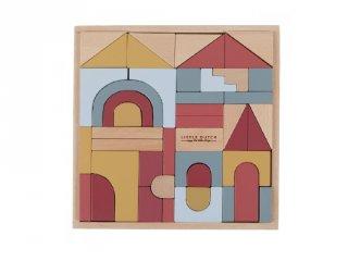 Fa építőkocka készlet dobozban, Little Dutch építőjáték (4704, 2-6 év)