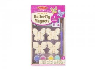 Fa hűtőmágnes készítő, Pillangó (Melissa&Doug, 4 db-os kreatív mágneses fajáték, 4-12 év)