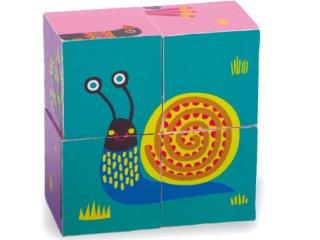 Fa kocka kirakó, erdőlakók (Oops, állatos fajáték, 1-3 év)