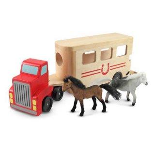 Fa lószállító jármű (Melissa&Doug, fajáték bábukkal, 3-7 év)