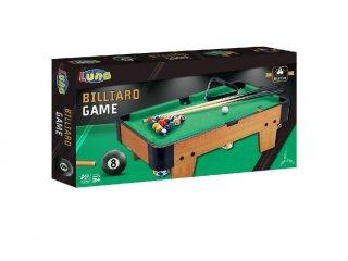 Fa mini billiárd asztal, ügyességi játék (58x51x34 cm)
