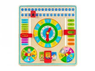 Fa naptár és óra, készségfejlesztő játék (3508 FP, 5-10 év)