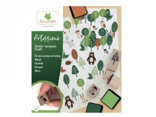 Fa nyomdakészlet Erdő, kreatív szett (Sycomore, 3-7 év)