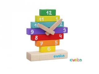 Fa óra építőjáték, készségfejlesztő játék (3-6 év)